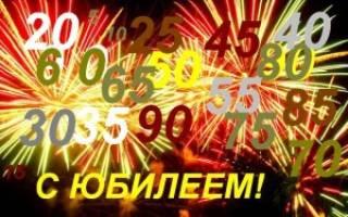 Поздравления с днем рождения юбилей короткие. Прикольные голосовые поздравления с юбилеем