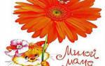 Поздравление от сына маме на 8 марта