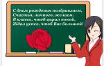 Дорогому педагогу в день рождения. Как поздравить с днем рождения учителя